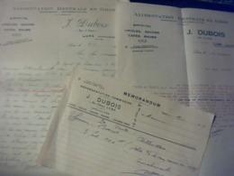 Facture Lot De 3 ALIMENTATION Générale En Gros DUBOIS à LURE Haute Saône 1930 - Alimentare