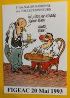 8900 - 11e Salon Des Collectionneurs Figeac 1993 Dessin Tignous - Bourses & Salons De Collections