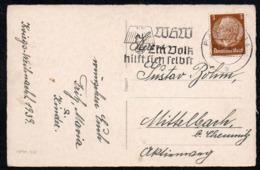 C9040 - Sonderstempel WHW Winterhilfswerk - Gel Plauen - HHH - Poststempel - Freistempel