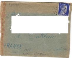 """1943 - Lettre Avec Bande """"CENSURE OKW"""" Prisonnier Francais D'Allemagne à Outreau (62) - Marcophilie (Lettres)"""