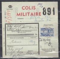 Vrachtbrief Met Stempel Ciney Colis Militaire - Chemins De Fer