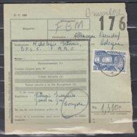 Vrachtbrief Met Stempel Koksijde 1 - 1942-1951