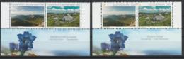 Slovenie Liechtenstein 2015 Emission Commune Tourisme Montagne Gentiane Slovenie Liechtenstein Joint Issue - Emissions Communes