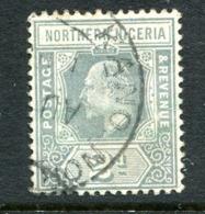 Northern Nigeria 1910-11 KEVII - Wmk. Mult. Crown CA - 2d Grey (p.14) Used (SG 30) - Nigeria (...-1960)
