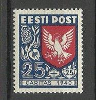 Estland Estonia 1940 CARITAS Michel 154 * - Estonia
