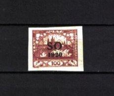 TSCHECHOSLOWAKEI , Czechoslovakia , OSTSCHLESIEN . 1920 , ** , MNH , Postfrisch , Mi.Nr. 19 A - Cecoslovacchia