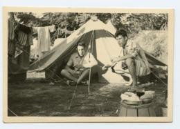 Homme Man Vacances Camping Tente Bon Temps Pique Nique Linge Soleil Playboy Gay Camp 50s Amateur Tent - Personas Anónimos