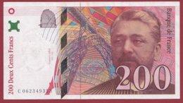 "200 Francs ""Eiffel"" 1997 --VF/SUP---ALPH -C- Numéro -- 062349353 - 1992-2000 Ultima Gama"
