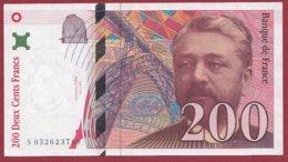 """200 Francs """"Eiffel"""" 1997 --F/TTB+---ALPH -S- Numéro -- 052623789 - 1992-2000 Dernière Gamme"""