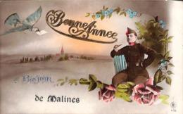 Un Bonjour De Malines (leger Armée Soldat à La Pipe 1921) - Mechelen