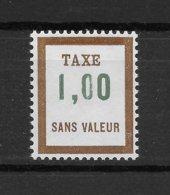 Fictif Taxe N° 28 De 1972 ** TTBE - Cote Y&T 2020 De 1 € - Phantomausgaben