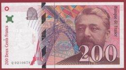 "200 Francs ""Eiffel"" 1996 --VF/SUP---ALPH -Q- Numéro -- 021067852 - 1992-2000 Ultima Gama"