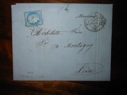 Lettre GC 3858 Sainte Severe Sur Indre Avec Correspondance - 1849-1876: Période Classique