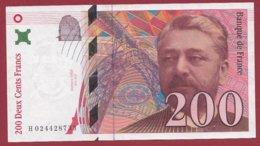 """200 Francs """"Eiffel"""" 1996 --VF/SUP---ALPH -H- Numéro -- 024428733 - 1992-2000 Last Series"""
