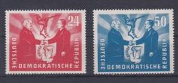 DDR Kleine Verzameling 1951 Nr 36/37 *, Zeer Mooi Lot Krt 4169 - Collezioni (senza Album)