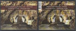 Autriche Slovenie 2013 Emission Commune Grotte D' Adelsberger Spéléologie Slovenia Ostereich Joint Issue Cave - Emissions Communes