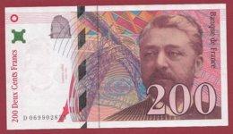 "200 Francs ""Eiffel"" 1997 --VF/SUP---ALPH -D- Numéro -- 069902823 - 1992-2000 Ultima Gama"
