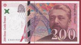 """200 Francs """"Eiffel"""" 1996 --XF/SUP+---ALPH -E- Numéro -- 023102521 - 1992-2000 Ultima Gama"""