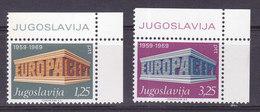 YOUGOSLAVIE,   N° 1252/1253  Neuf **, 1969, Cote  8€00  , Europa (W1903/Y004) - 1945-1992 République Fédérative Populaire De Yougoslavie