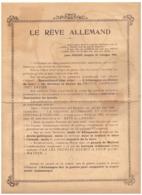 """PROPAGANDE-""""LE REVE ALLEMAND"""" JAMAIS UN PEUPLE NE FUT ORIENTE VERS LA GUERRE COMME LE PEUPLE ALLEMAND........... - Documents"""