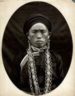 FEMME PEN MEO BLANC  CLICHÉ TETART INDOCHINE INDO CHINA ASIA 23*17CM Fonds Victor FORBIN 1864-1947 - Photos