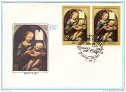 UDSSR SU USSR SOVIET UNION - FDC 3898 Da Vinci Gemälde Kunst (Scan)(28684) - FDC