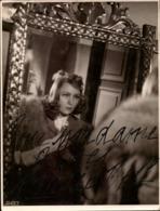 Photo Dédicacée MERIE BELL  Autographe - Signiert