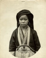FEMME KOUI CHU CLICHÉ TETART INDOCHINE INDO CHINA ASIA 23*17CM Fonds Victor FORBIN 1864-1947 - Photos