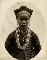 FEMME NUNG  CLICHÉ TETART INDOCHINE INDO CHINA ASIA 23*17CM Fonds Victor FORBIN 1864-1947 - Photos