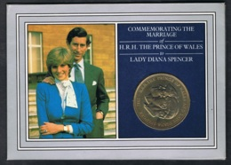 1981  Hochzeit Lady Diana Und Der Prinz Von Wales Im Schmuckumschlag - Maundy Sets & Gedenkmünzen