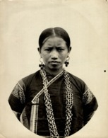 FEMME  MONG SOA  CLICHÉ TETART INDOCHINE INDO CHINA ASIA 23*17CM Fonds Victor FORBIN 1864-1947 - Fotos