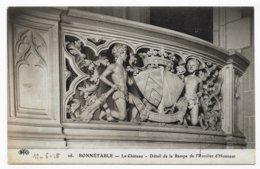 BONNETABLE EN 1915 - N° 16 - LE CHATEAU - DETAIL DE LA RAMPE DE L' ESCALIER D' HONNEUR - CPA VOYAGEE - Bonnetable