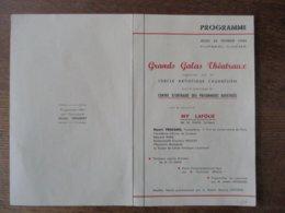 24 FEVRIER 1944 GRANDS GALAS THEATRAUX ORGANISES PAR LE CERCLE ARTISTIQUE CAUDRESIEN CENTRE D'AIDE DES PRISONNIERS RAPAT - Programme