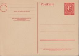 AllBes. GemAusg. MiNr. P 955, Ungebraucht, Postkarte 1946 - Zona AAS