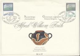 BELGIEN 2469 Gemeinschaftsausgabe Mit FINNLAND 1147, Auf Ersttagsblatt, Alfred William Finch, 1991 - Emisiones Comunes