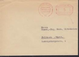 BERLIN Freistempel: Deutsche Post 5 (Pf) Auf Drucksache, Gestempelt: Berlin N4 18.2.1957 - Affrancature Meccaniche Rosse (EMA)