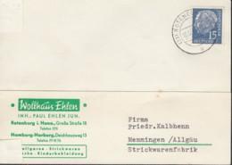 BRD 184 EF Auf PK Mit Stempel: Rothenburg 10.12.1958 - Briefe U. Dokumente