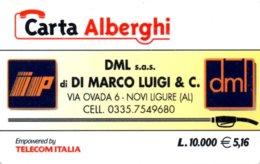 *CARTA ALBERGHI 1° Tipo: DML S.a.s. Di DI MARCO LUIGI & C. - Cod. 127* - Usata - Italia