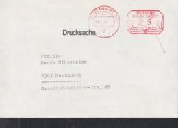 BRD Freistempel: Deutsche Bundespost 25 (Pf) Auf Drucksache Der Fa. Textilia, Gestempelt: Stuttgart 14.5.1974 - Affrancature Meccaniche Rosse (EMA)