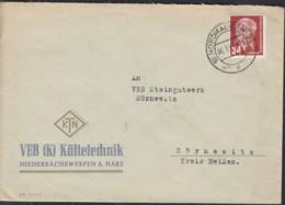 DDR MiNr.  324 EF Auf Brief Mit Stempel: Nordhasen 6.7.1954 - [6] République Démocratique