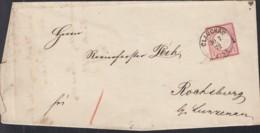 DR 4 EF Auf Faltbrief Mit Stempel: Glauchau 30 7 1872, Kleiner Brustschild - Deutschland