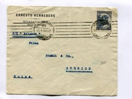 "ARGENTINA - ""ERNESTO HENNEBERG"" COMMERCIAL ENVELOPPE CIRCULEE BUENOS AIRES A ZUERICH, ANNE 1937 -LILHU - Briefe U. Dokumente"