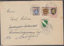 FrzZone 1, 2, 3, 7 MiF Auf Brief Mit Stempel: Stockach 10.6.1946 - Französische Zone