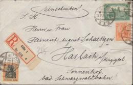 INFLA DR  MiNr. 88 II, 113, 141 MiF, Geprüft, Auf R-Brief Mit Stempel: Cöln 16.7.1921 - Infla