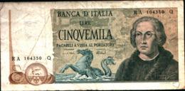 7271)splendida BANCONOTA LIRE 5000 COLOMBO II TIPO 3 CARAVELLE 1973 Vedi Foto - [ 2] 1946-… : Republiek