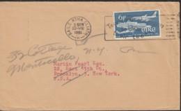"""IRLAND 148, Auf Luftpost Brief Mit Stempel: Baile Atha Cliath 22-VIII 1961, 25 Jahre Fluggesellschaft """"Aer Lingus"""" 1961 - Briefe U. Dokumente"""