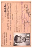 CARTE DU COMBATTANT DE L'ARMEE DE L'AIR -MARNE- N°60074  1968 - Documents