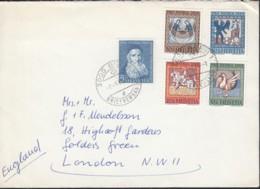 SCHWEIZ  MiNr. 814-818, Satzbrief, Gestempelt. Bern 2.8.1965, Pro Patriaa 1965, Deckengemälde - Cartas