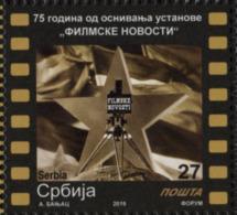 "Serbia 2019. 75 Years Of ""FILMSKE NOVOSTI"" Newsreel, Film, Movie Star, Actor, MNH - Serbie"
