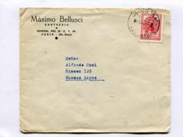 "ARGENTINA - ""MAXINO BELLUSCI, SASTRERIA"" COMMERCIAL ENVELOPPE CIRCULEE JUNIN A BUENOS AIRES, CIRCA 1950'S -LILHU - Argentinien"